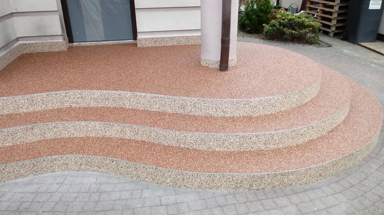 Kamienne Dywany Posadzki żywiczne Kruszywa Zator